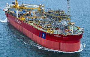 O que é uma FPSO? Unidade flutuante de produção, armazenamento e transferência de petróleo e gás.